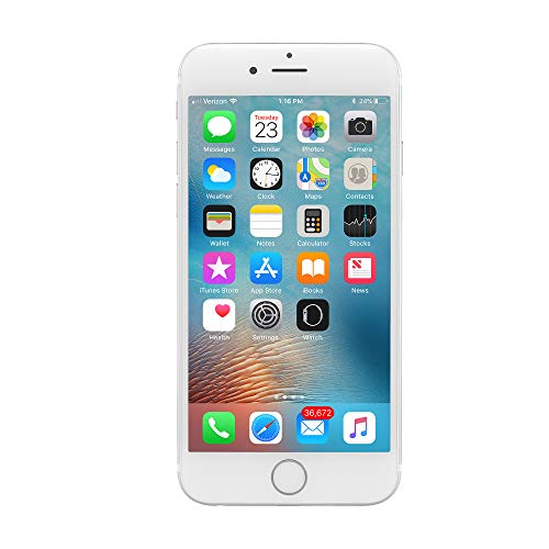 - Apple iPhone 6, Fully Unlocked, 16GB - Silver (Certified Refurbished)