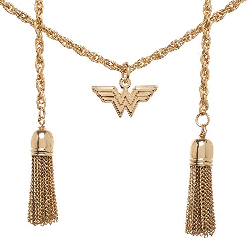 Bioworld DC Comics Wonder Woman Lasso of Truth Charm Necklace