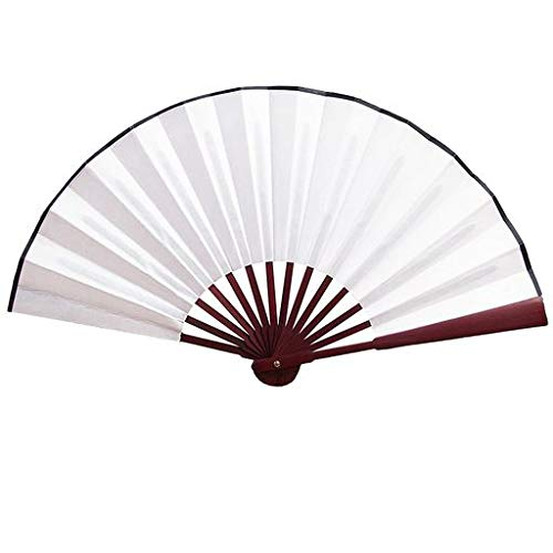 Cathy Clara Hand Held Chinese Floral Lace Silk Folding Fan Unisex Wedding Dancing Party Fan