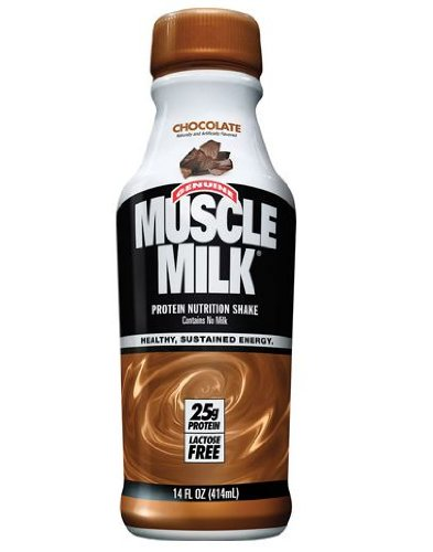 Muscle Milk, Chocolate, 14 Oz. Plastic Bottles (Pack of 24) by Cytosport Inc.