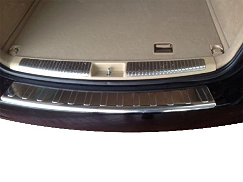 MERCEDES ML CHROME REAR BUMPER SILL COVER PROTECTOR TRIM STAINLESS STEEL BRUSHED W164