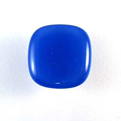 Attirant Cobalt Blue Glass Cabinet Knob   Colormax Collection (118 Colors) Rounded  Square Blue Glass