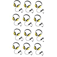 Califone 2800-YL Listening First Headphones in Yellow (Set of 12)