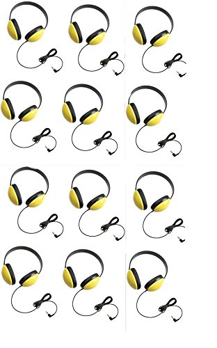Califone 2800-YL Listening First Headphones in Yellow (Set of 12) by Califone