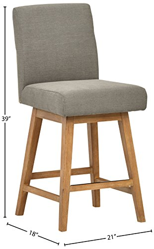 Stone & Beam Sophia Modern Swivel Counter Stool, 39.4
