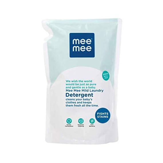 Mee Mee Mild Baby Liquid Laundry Detergent (500 ml - Refill Pack)