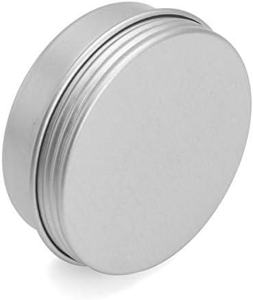 Queenwind 24Pcs 25G アルミニウム円形の空の瓶の錫ねじ上のふたの化粧品のサンプル貯蔵の容器
