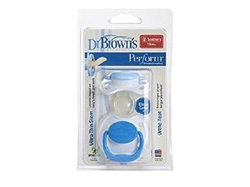 Amazon.com: Dr. Browns realizar chupete con asa azul Etapa 3 ...
