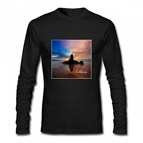 Fangeshi America The Beautiful Image Of Beautiful Sunset At Newport Beach California Men Long Sleeve T-Shirt