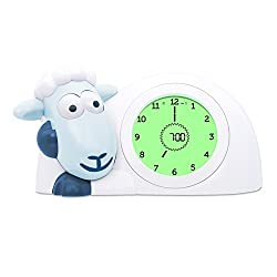 SAM Sleep Trainer Alarm Clock and Nightlight NEW FEATURES (Blue)