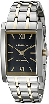 Armitron Men's 20/5112BKTT Two-Tone Bracelet Watch