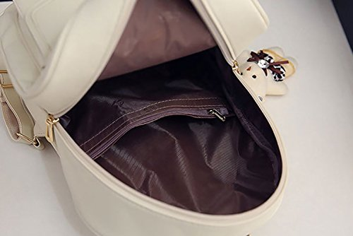 portés ensemble dos Sacs main Sacs Blanc Faux 3pcs Cuir DEERWORD bandoulière portés Sacs Femme Ug1w1qE