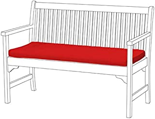 Garden Bench Pad ONLY in Red, Bench not included* Comfortable and Lightweight. Great for Indoors and Outdoors, Made from Water Resistant Material.