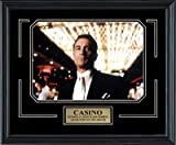 Casino Movie. Robert De Niro as Sam 'Ace' Rothstein. Framed Photo in the Black Modern Real Wood Frame (15 x 12)