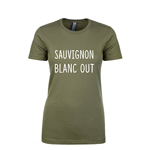 ZeroGravitee Sauvignon Blanc Out Womens Crewneck t- Military Green - Medium