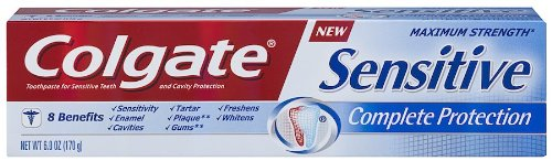 Colgate Sensitive Toothpaste, Complete Protection, Mint - 6 ounce by Colgate