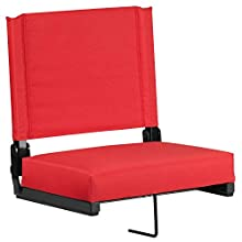 Flash Furniture Grandstand Comfort Seats by Flash with Ultra-Padded Seat in Red