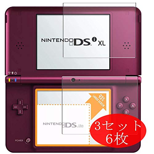 【6 Pieces/3 Sets】 Synvy Screen Protector Compatible with Nintendo DSI XL 0.14mm TPU Flexible HD Clear Case-Friendly Film Protective Protectors [Not Tempered Glass] New Version
