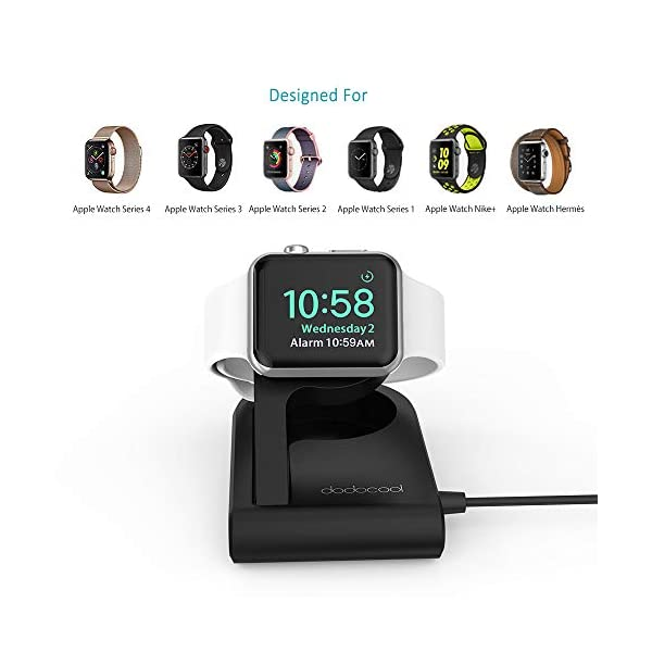 dodocool Caricatore per Apple Watch[MFi Certified], Charger Stand Magnetico Ricarica per iWatch, Compatibile con modalità Nightstand Clock Mode for Apple Watch Series4/Series 3/Series 2/Series 1 2 spesavip