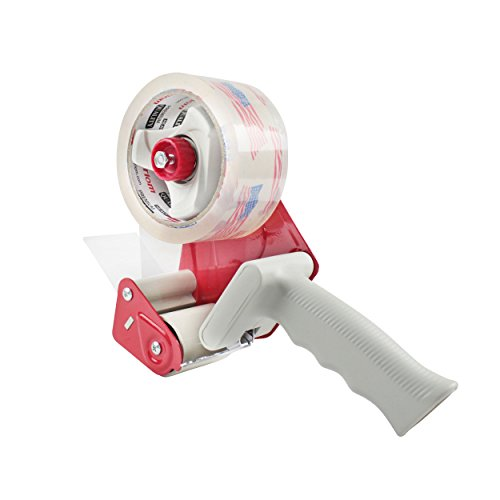 Tape Gun Standard Handheld Dispenser with a 55 Yard Packing Roll Included for Box Sealing and ()