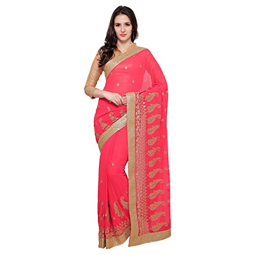 Taadrashya women's georgette saree with Blouse piece mate...