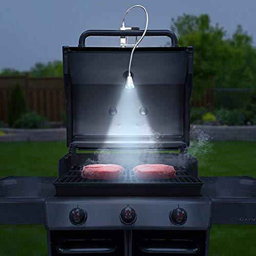 PQZATX Lampe De Gril LED De Barbecue Magn/étique Pince De Vis /à Col De Cygne R/églable /à 360 Degr/és Flexible pour Outils De Barbecue Ext/érieur Int/érieur Bureau F/ête