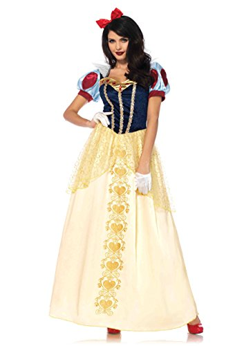 Leg Avenue Plus Size Women's Deluxe Classic Snow White Halloween Costume, Multi, X-Large ()
