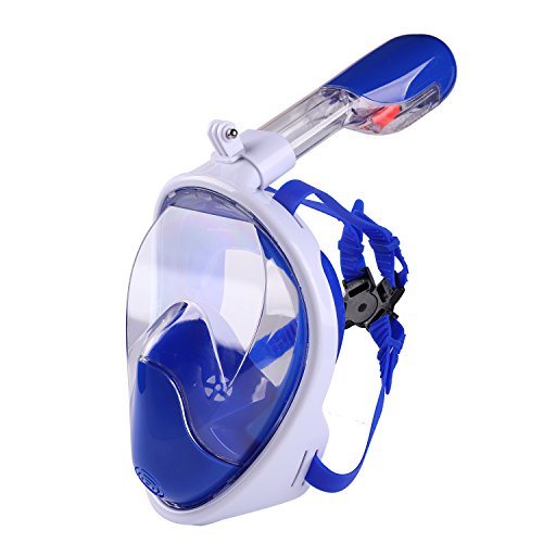AQUA A DIVE SPORTS Snorkel Mask, Full Face Diving Mask, Panoramic Seaview 180° Scuba Mask Anti-Fog Anti-Leak Snorkeling Technology, See More Water World Larger Viewing Area