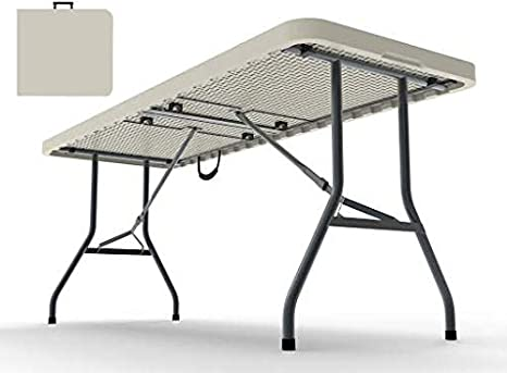 Amazon.com: Mesa plegable de plástico – Se pliega en la ...