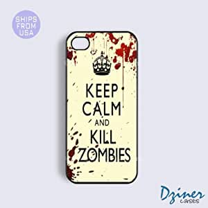 iPhone 4 4s Tough Case - Keep Calm Kill Zoombies iPhone Cover
