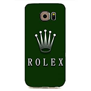 DIY Style Samsung Galaxy S6edge Custom Rolex Phone case Customized for 3d cool design hard cover case_green