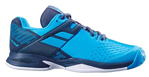 Babolat Kid's Propulse All Court Tennis Shoes, Blue/Grey (7 US) (Best Court Shoes For Wide Feet)