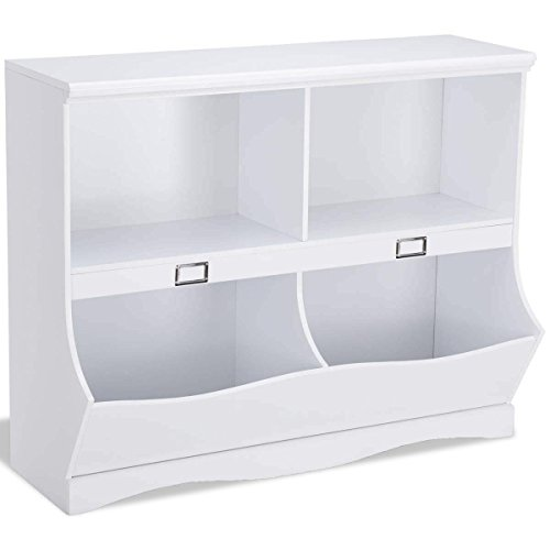 Children Storage White Bookcase Toy Organizer - By Choice Products by By Choice Products
