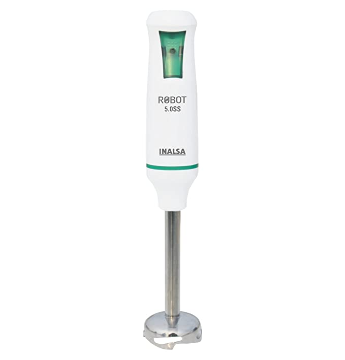 Buy Inalsa Robot 5.0 SS 500-Watt Hand Blender with 2 Year Warranty (White/Green) Online at Low Prices in India - Amazon.in