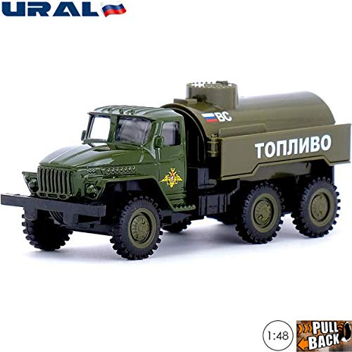 (1:48 Scale Diecast Metal Model Fuel Truck Ural 4320 Russian Army Die-cast Toy Cars)