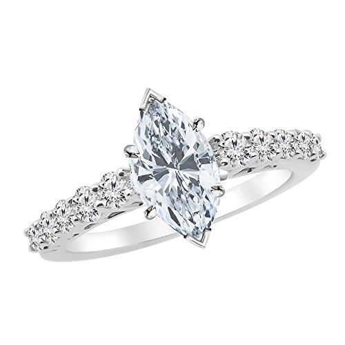 0.45 Ct Marquise Diamond - 7