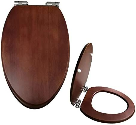 便座、アタッチメント付きV字型トイレの蓋、ダンパーの厚みがあり、ゆっくりと家族に適しています。取付穴長さ:10〜20cm、ウッドカラー:43〜50×36