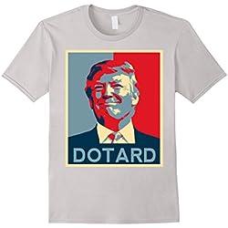 Mens Funny Anti Trump T Shirt Hate Resist Donald Democrat Impeach Large Silver