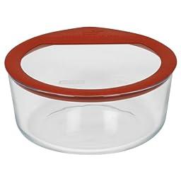 Pyrex Premium 7-Cup Round Glass Food Storage