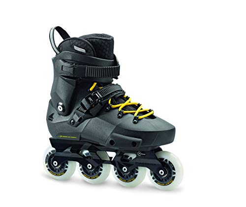 Rollerblade Twister Edge Men's Adult Fitness Inline Skate, Black and Yellow, High Performance Inline Skates (Renewed)