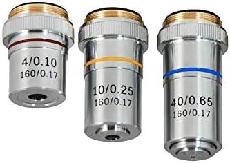 Spring 4X 10X 40X BM05033011 BoliOptics Achromatic Microscope Objective Lens Set