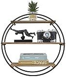 RiteSune Decorative Round 3 Tier Floating Shelves