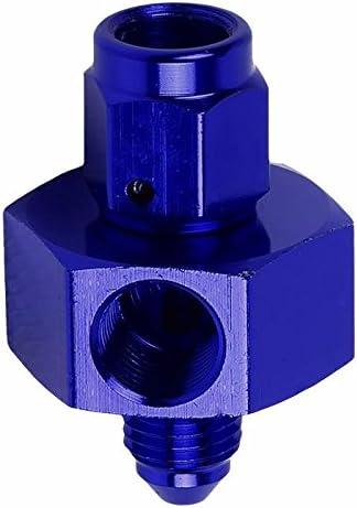 Blue Male 45 Degree 1//8-27 NPT Flare Bulkhead Oil//Fuel Hose 16AN Fitting Adapter