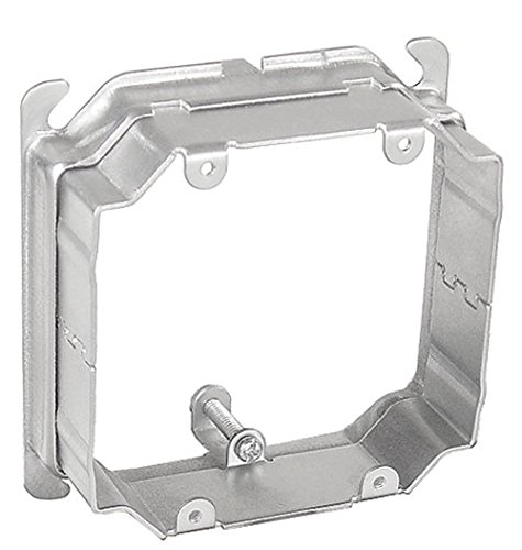 4 Inch Square Two Gang Device Cover Adjustable 3/4 Inch To 1-1/2 Inch Raised-2 per case
