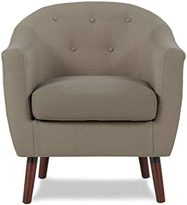 Homelegance Fabric Barrel Chair, Beige