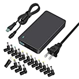 Outtag 90W Universal Laptop Charger Slim 15-20V Automatic Voltage Power Adapter Supply w/5V USB 6Ft AC Cord & 4Ft Detachable DC Cord for HP Dell Toshiba IBM Lenovo Acer ASUS Samsung Sony and More