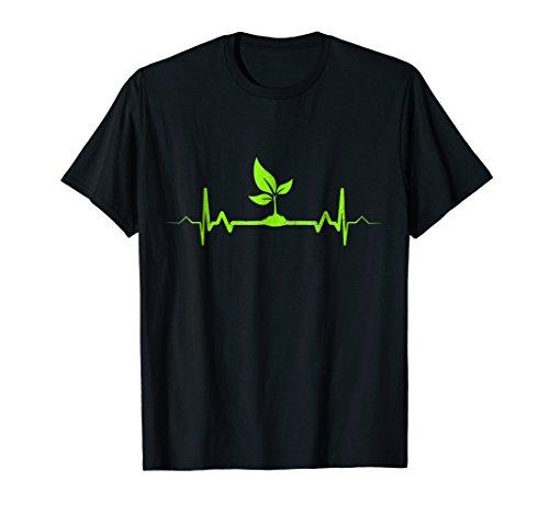Plant Heartbeat T-Shirt - Vegan Plant Lover Shirt Gift