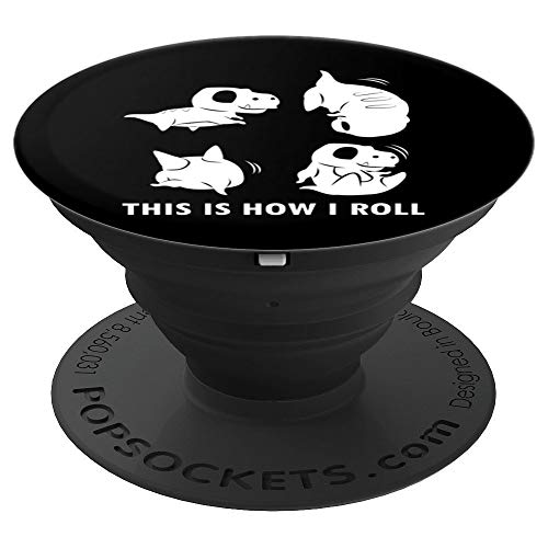 How Tall Is The T Rex (This Is How I Roll Clothes Somersaults Kids Gift T-Rex PopSockets Grip and Stand for Phones and)