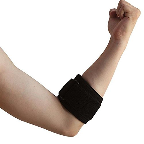 87c238acde Tendonitis Golf & Tennis Elbow Brace: Adjustable Forearm Compression  Support Pad & Sweatband - Relieves
