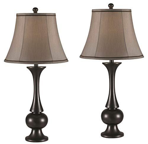 (Kenroy Home 21059MBZ Abbott 2 Pack Table lamp, Metallic Bronze)